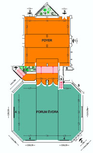 Room Scheme Forum + Foyer